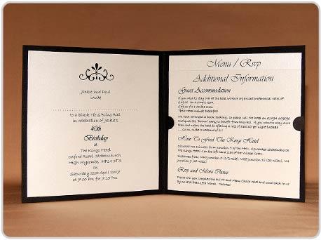 Fairy Designs Weddings Diamantes – Invite Card